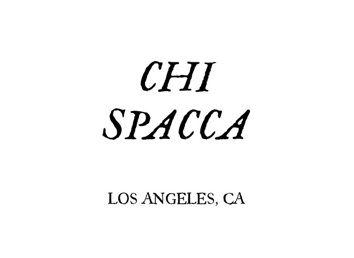 SCRIBE NIGHT at CHI SPACCA Image