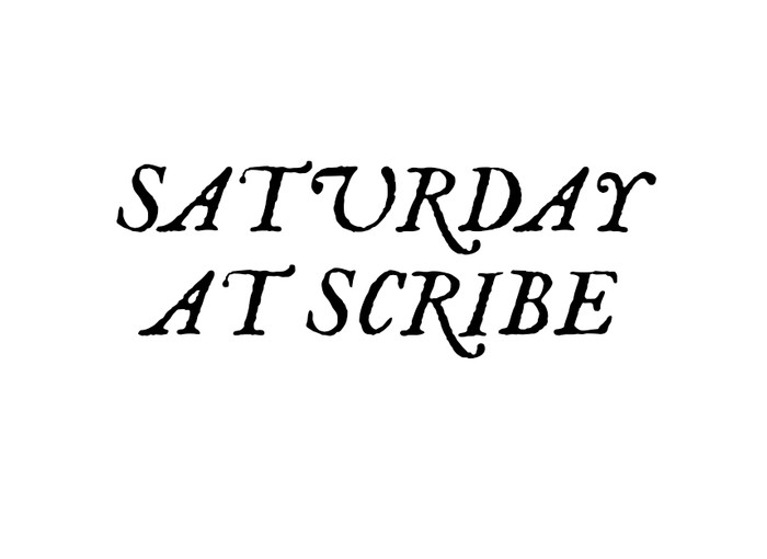 Pick Up Weekend SATURDAY at SCRIBE Image